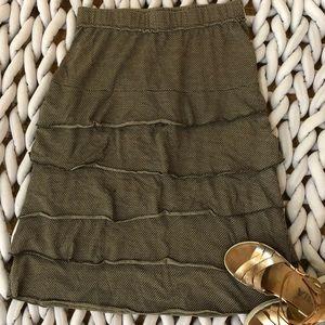 Matilda Jane brown print skirt with ruffles midi